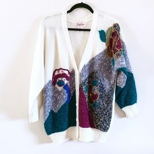 Vintage 80's Jaclyn Smith Embellished Cardigan